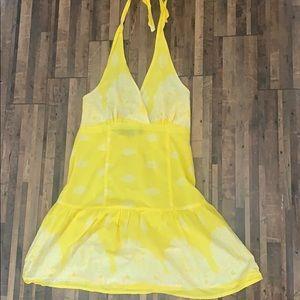 Ultra Flirt Lightweight Halter Dress Yellow Sz M